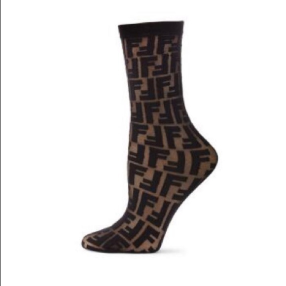 6308d3c9f238e Fendi Accessories | Double F Logo Socks As Seen On Kylie Jenner ...